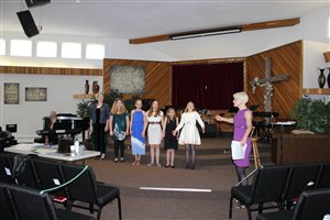 Alexandra Babbel with Junior Classical singers, Cariboo Festival 2017
